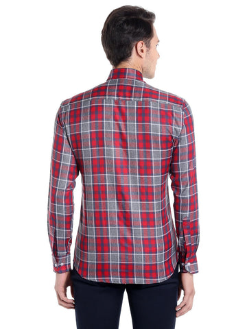 Window Checks Shirt - Red