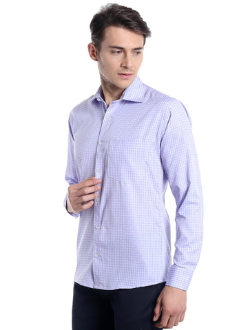 Micro Checks Shirt - Violet