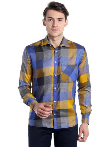 Box Checks Shirt - Yellow