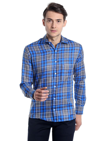 Window Checks Shirt - Blue