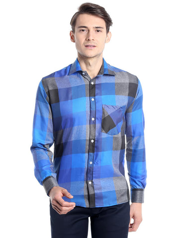 Box Checks Shirt - Blue