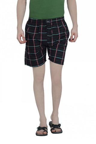 CHECKERED BOXERS - BLACK 1
