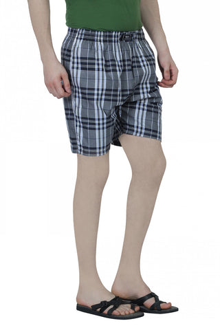 CHECKERED BOXERS - GREY 1