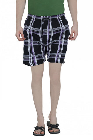 CHECKERED BOXERS - BLACK 2