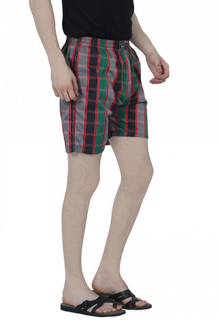 CHECKERED BOXERS - GREEN