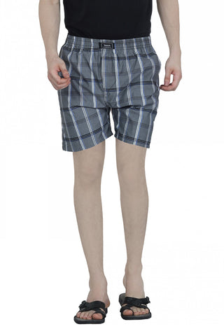 CHECKERED BOXERS - GREY 2