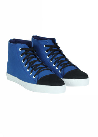 Hi Top Lace Shoes - Blue