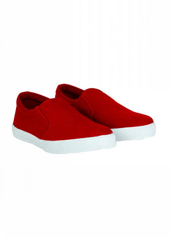 Slip On Canvas Shoe - Red