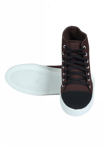 Hi Top Lace Shoes - Brown