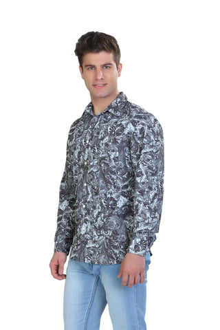 Floral Print Grey - SLIM FIT