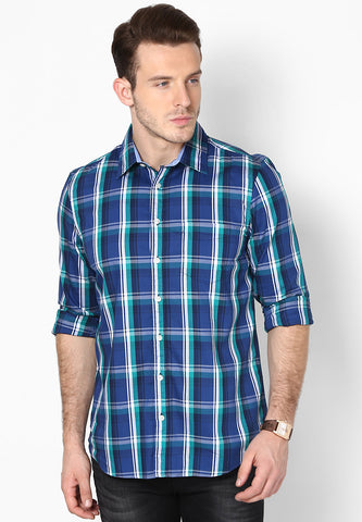 Weekend Selection - Blue Green Checks Shirt