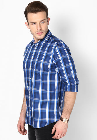 Weekend Selection - Blue White Checks Shirt
