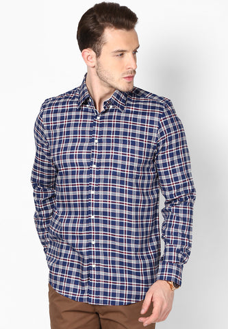Friday Dressing - Blue White Checks Shirt