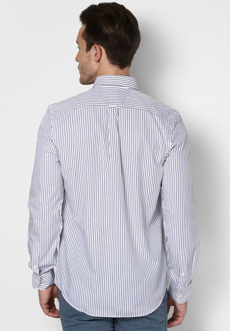 Friday Dressing - Black White Stripes Shirt