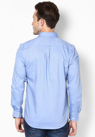 Sunday Best - Blue Plain Shirt