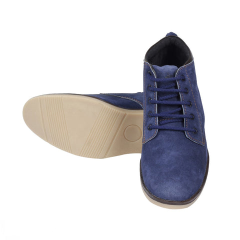 Suede Ankle Length Shoe - Blue