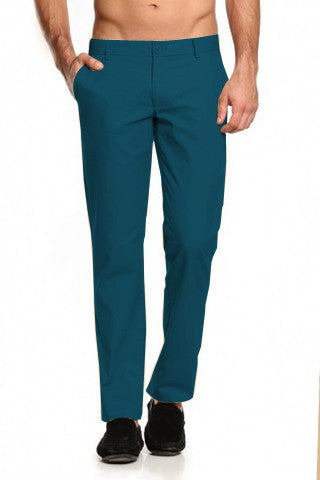 Cobalt Blue Trousers - Regular Fit