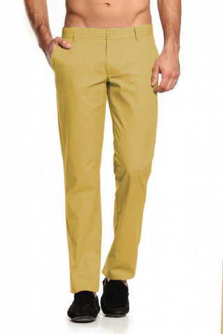 Mustard Trousers - Regular Fit