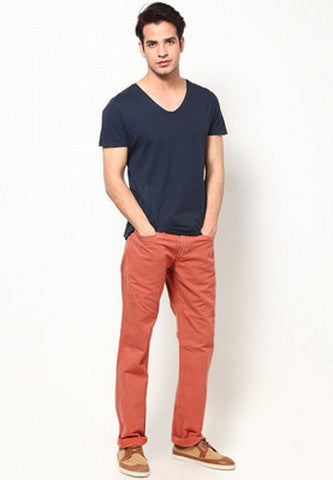 Coloured Denim  - Burnt Orange1