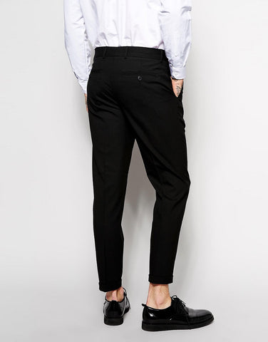 Black Cotton Trousers - Smart Fit
