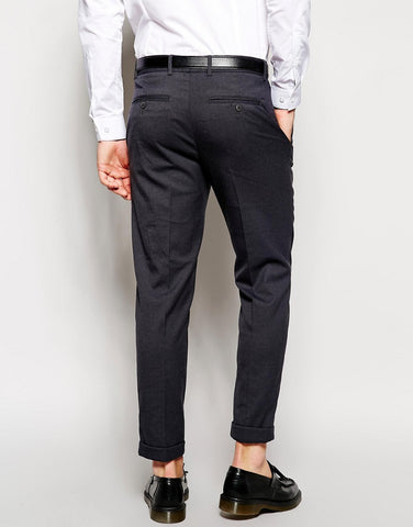 Grey Cotton Trousers - Smart Fit