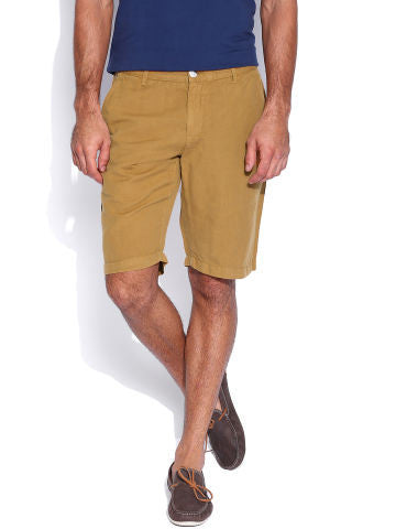 Cotton Mustard Shorts