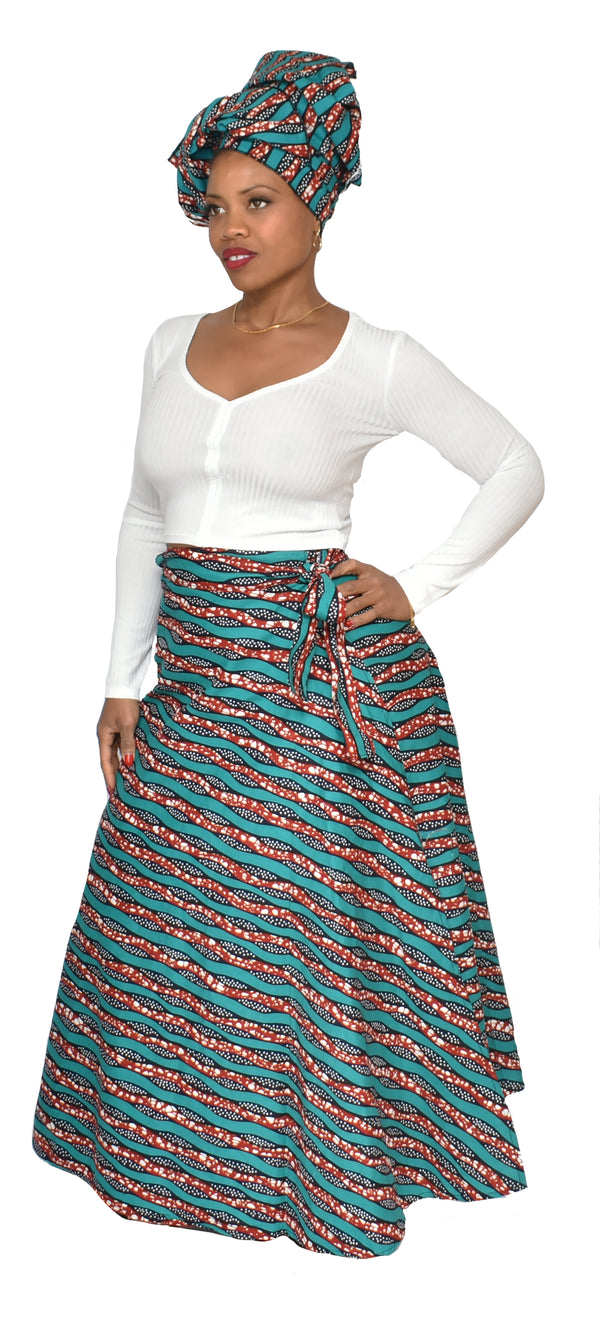 Sea Side Wrap Skirt