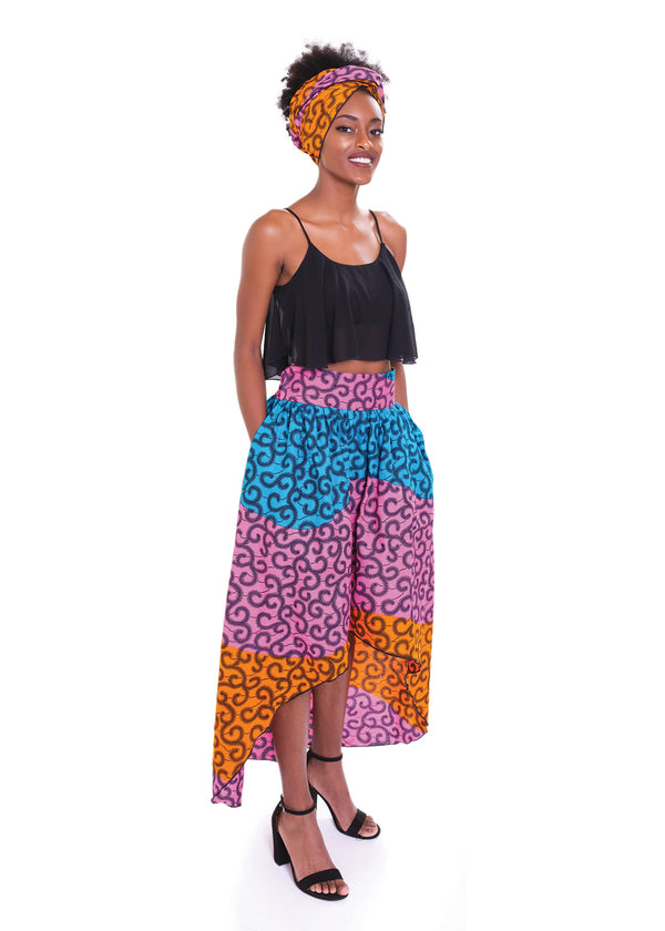Fantasy Hi-Low Maxi Skirt