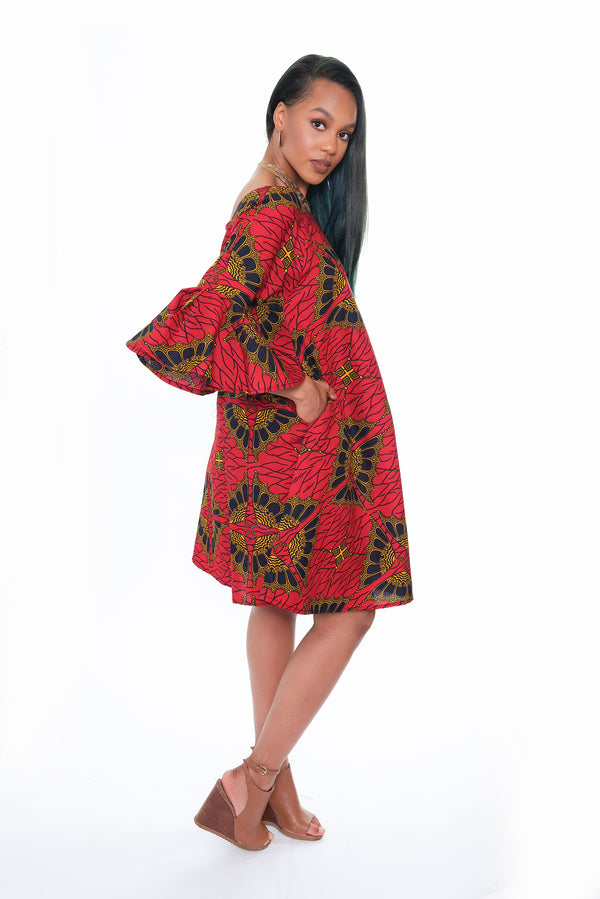 Adeola Bell Sleeve Maternity Dress