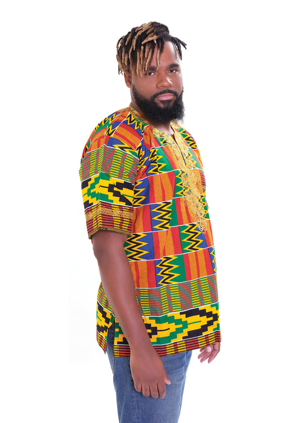 Red Kente Dashiki
