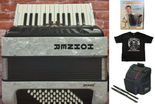Load image into Gallery viewer, Hohner Bravo II 48 Bass White Piano Accordion Acordeon +Bag, Straps, Shirt, DVD - Authorized Dealer