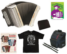 Load image into Gallery viewer, Hohner Corona II  White Blanca GCF SOL Accordion Acordeon Bag,Pad,Straps,DVD,Shirt Authorized Dealer