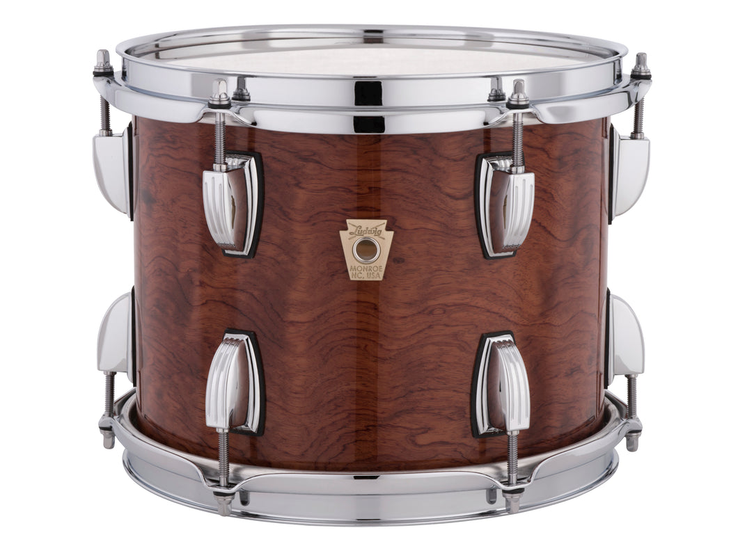 Ludwig Classic Maple Exotic African Bubinga Finish Downbeat Kit 14x20_8x12_14x14 Custom Order Drums