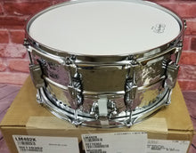 Load image into Gallery viewer, Ludwig LM402K Supraphonic 6.5x14 Hammered Chrome Imperial Lugs Kit  Snare Drum NEW Authorized Dealer