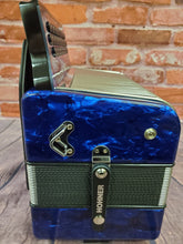 Load image into Gallery viewer, Hohner Xtreme Corona II FBE/FBbEb/Fa Blue Azul Accordion Acordeon +Case/Bag/Straps/T-Shirt | Dealer
