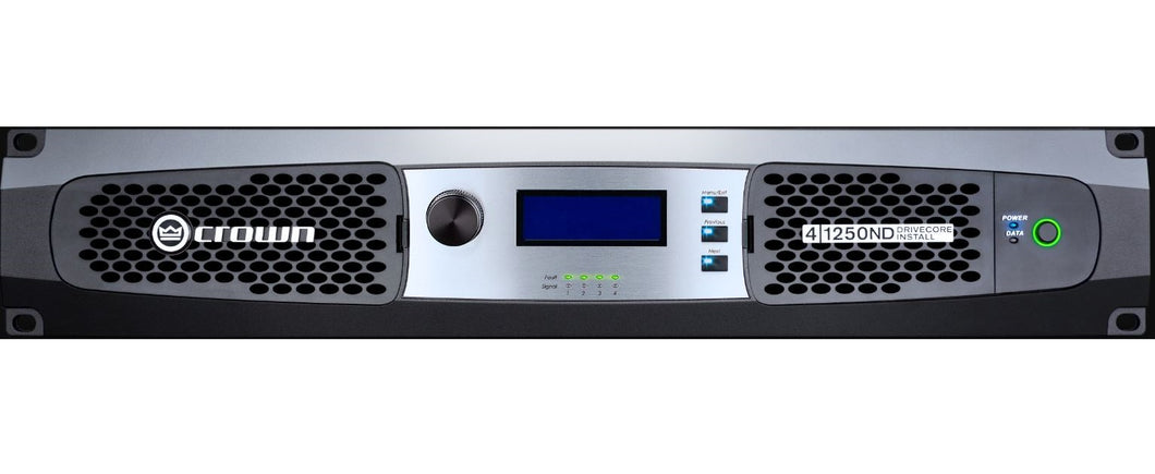 Crown DCi 4|1250N 4-channel 1250W 4Ohm Power Amplifier 70V/100V | Overnight Ship | Authorized Dealer