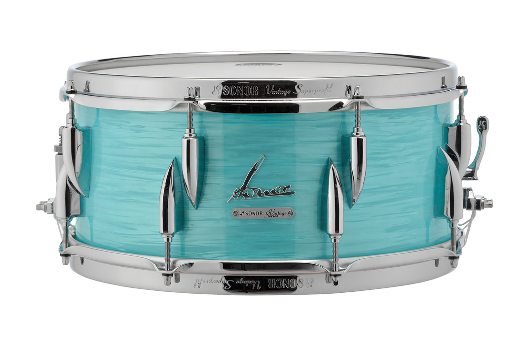 Sonor 14x5.75 Vintage California Blue Beech Snare Drum | Worldwide Shipping! | NEW Authorized Dealer