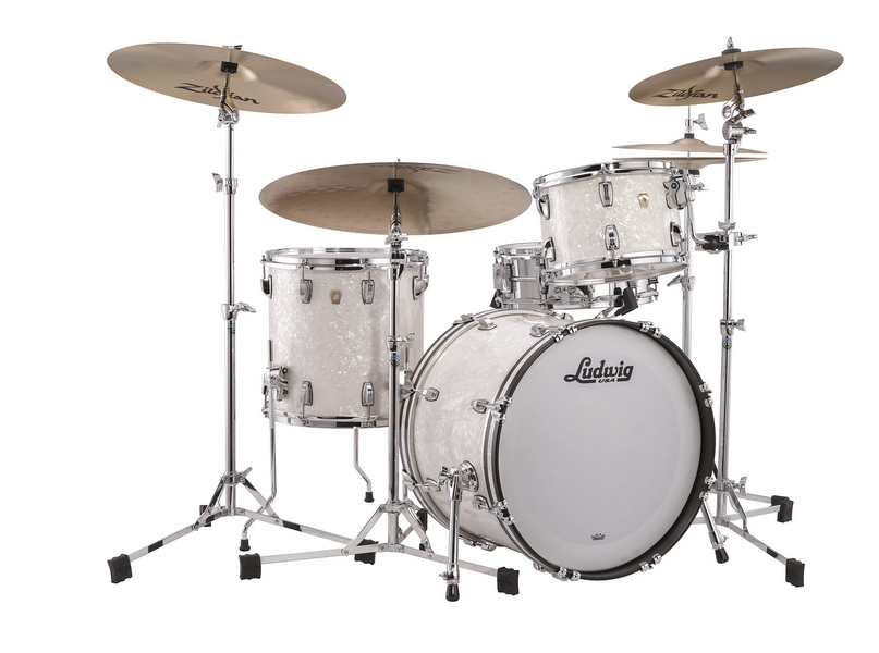 Ludwig Classic Maple White Marine Pearl Fab 14x22, 9x13, 16x16 Drums Special Order Authorized Dealer