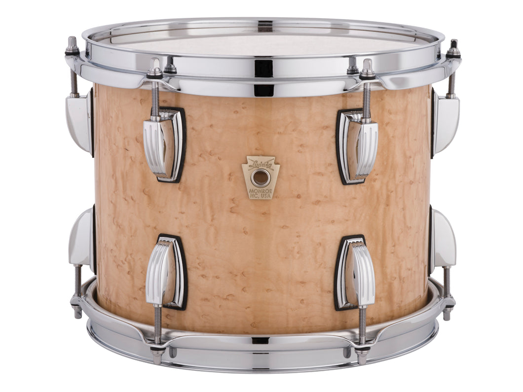 Ludwig Classic Maple Birdseye Maple Full-Face In/Out Finish Downbeat 14x20_8x12_14x14 Custom Drums