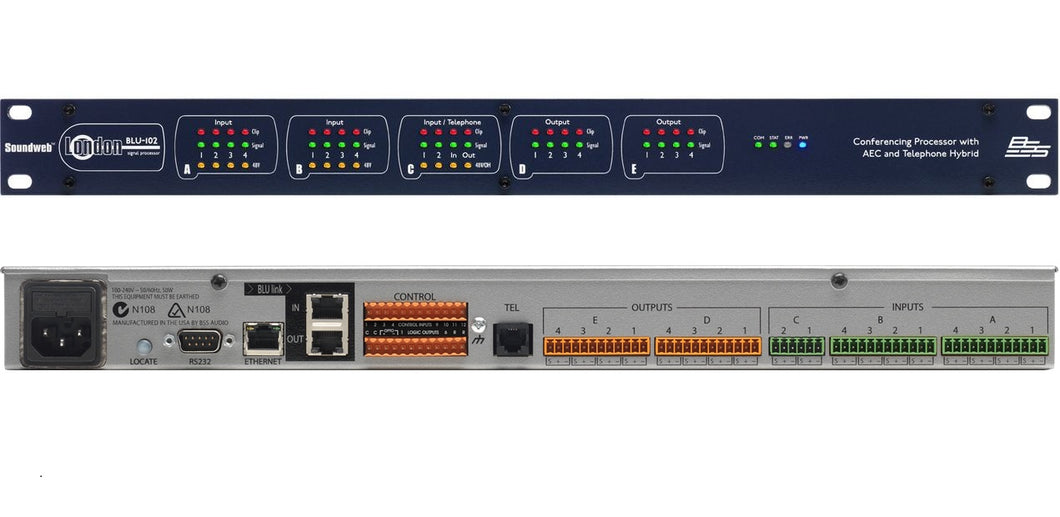BSS Soundweb London Conferencing Processor AEC Telephone Hybrid | 1-Day Ship | NEW Authorized Dealer