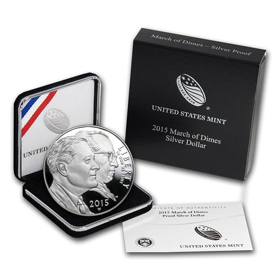 2015 March of Dimes Silver Dollar (Proof)