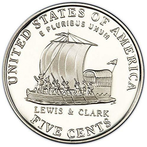2004 Westward Journey Jefferson Nickel Lewis & Clark P&D U.S. Mint Roll
