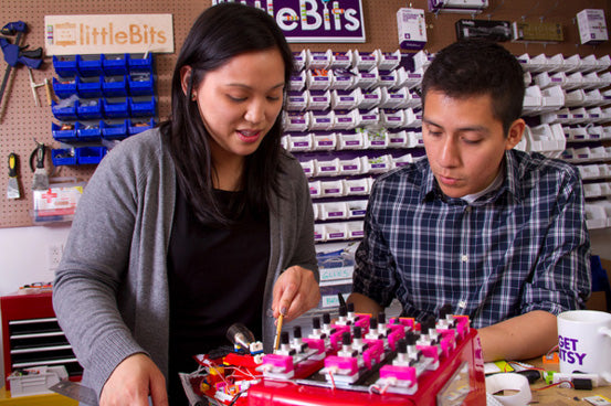 littlebits Pro Library in action
