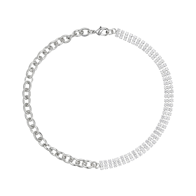 Crystal Diamond Chain Necklace