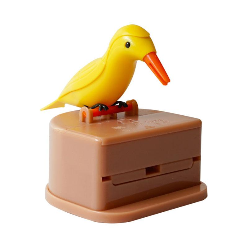Creative Automatic Toothpick Box Cartoon Bird