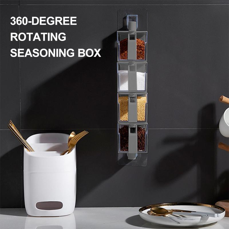 360-Degree Rotating Seasoning Box