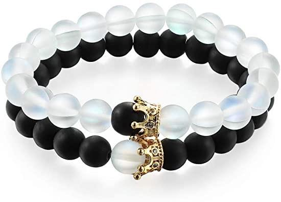 King And Queen Bead Bracelets - Kingsnqueenz