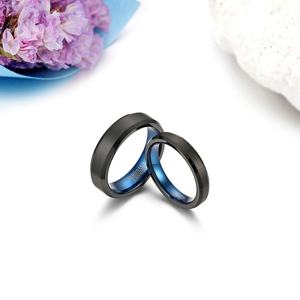Blue Inlay Promise Ring - Kingsnqueenz