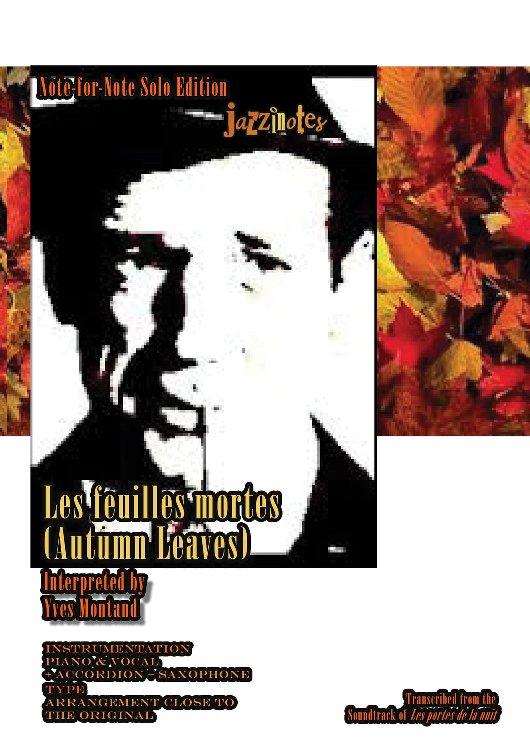 Montand, Yves: Les feuilles mortes (Autumn Leaves) - Musiknoten Download