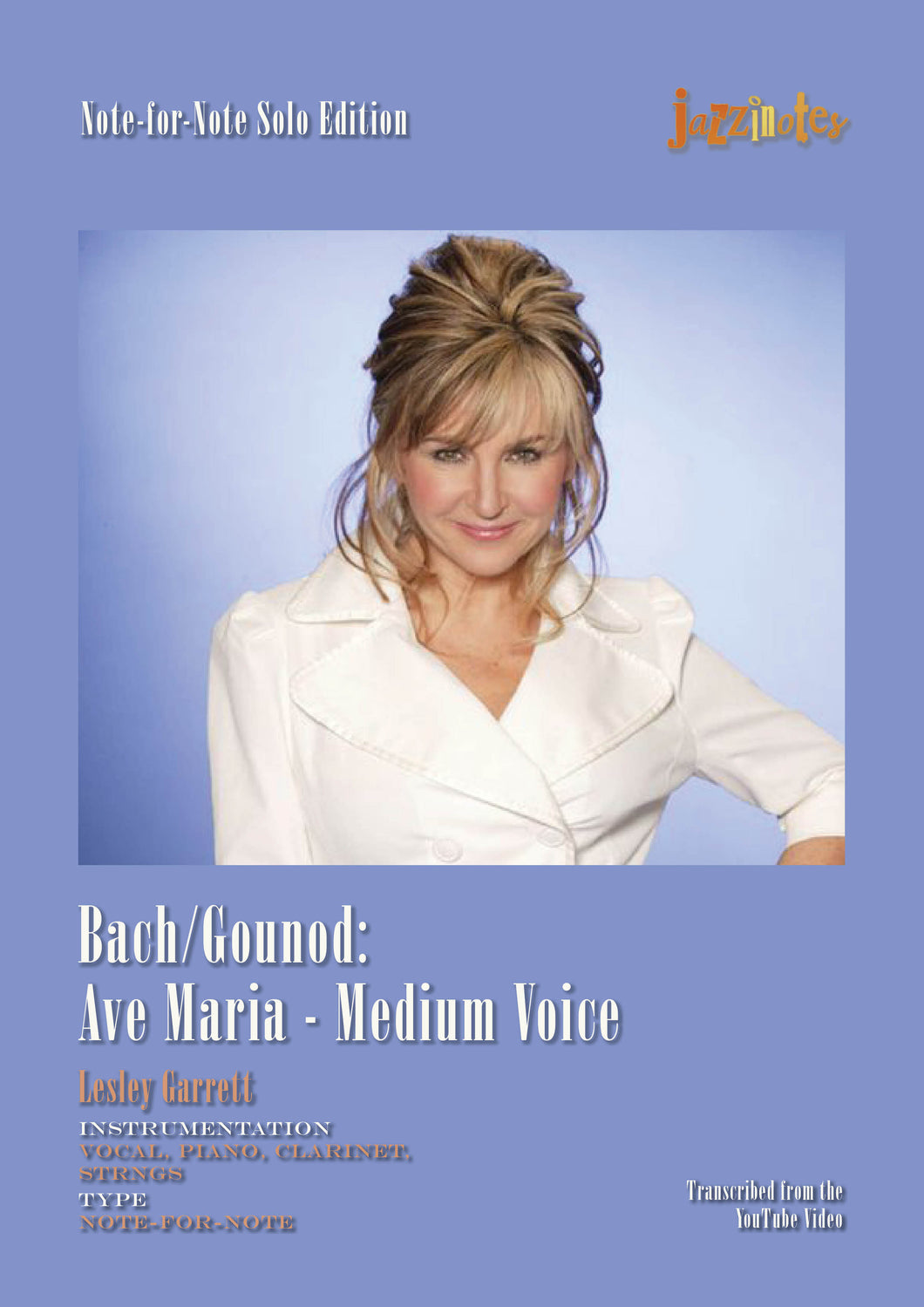 Bach/Gounod: Ave Maria (Lesley Garrett) - medium voice Eb major - Sheet Music Download